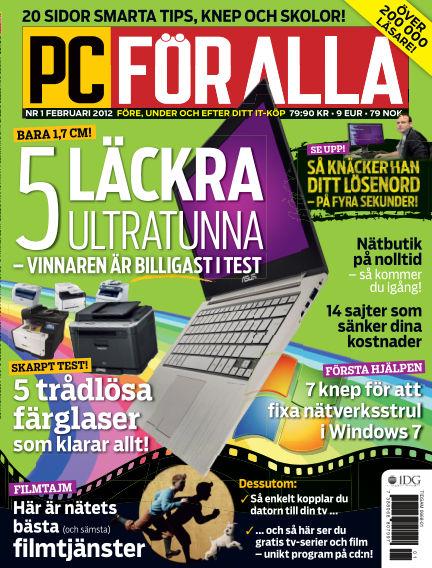 PC för Alla January 13, 2012 00:00