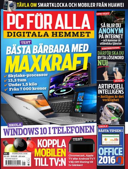 PC för Alla January 12, 2016 00:00