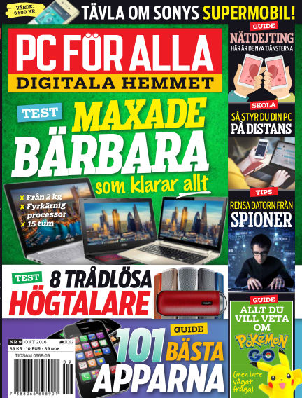 PC för Alla September 19, 2016 00:00