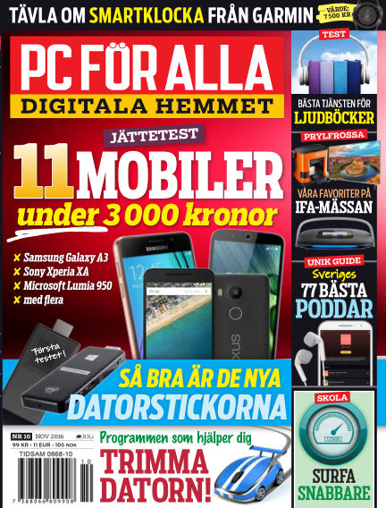 PC för Alla October 18, 2016 00:00