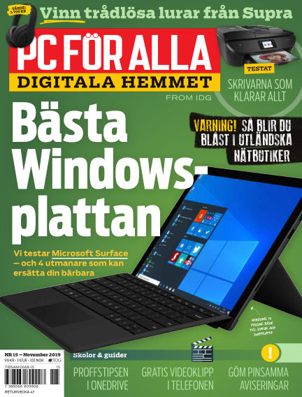 PC för Alla October 28, 2019 00:00