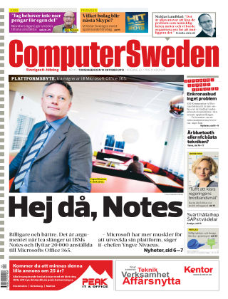 Computer Sweden (Inga nya utgåvor) 2013-10-10