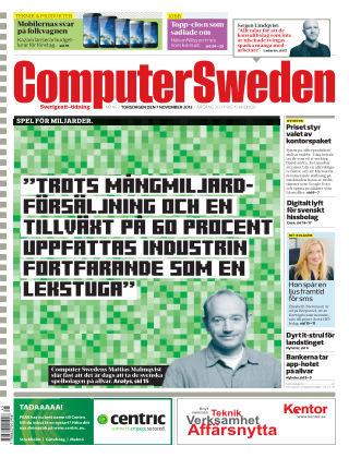 Computer Sweden (Inga nya utgåvor) 2013-11-07