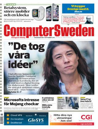 Computer Sweden (Inga nya utgåvor) 2014-09-11