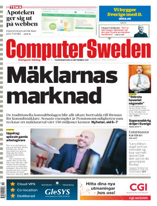 Computer Sweden (Inga nya utgåvor) 2014-09-25