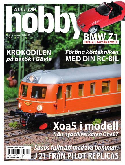 Allt om Hobby (Inga nya utgåvor) November 03, 2015 00:00