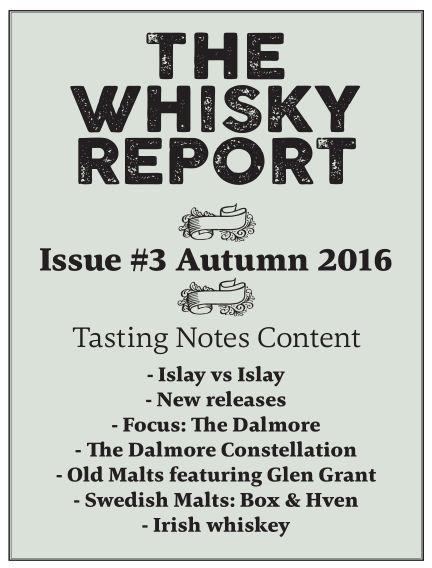 The Whisky Report (Inga nya utgåvor) November 01, 2016 00:00