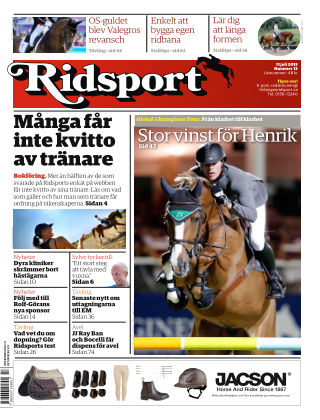 Ridsport 2013-07-11