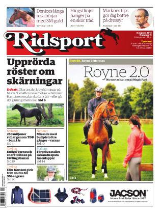 Ridsport 2013-08-08