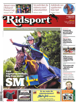 Ridsport 2013-08-22