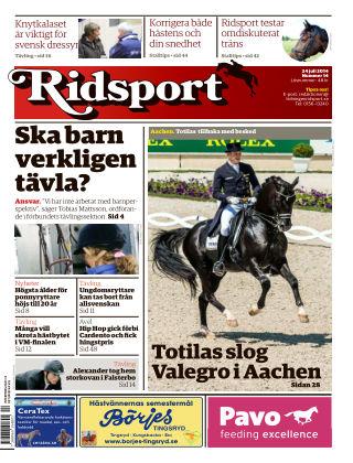 Ridsport 2014-07-24