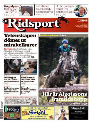Ridsport 2015-09-17