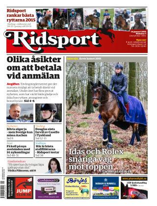 Ridsport 2016-01-14