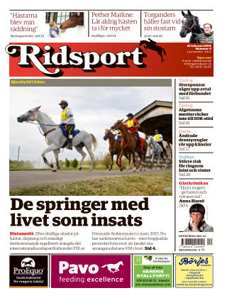 Ridsport 2016-02-25
