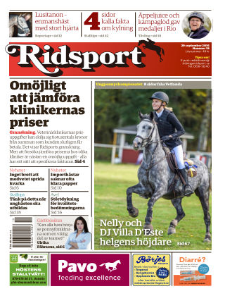 Ridsport 2016-09-29