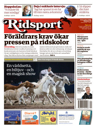 Ridsport 2016-12-08