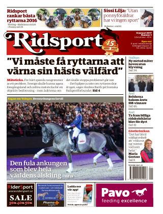 Ridsport 2017-01-12
