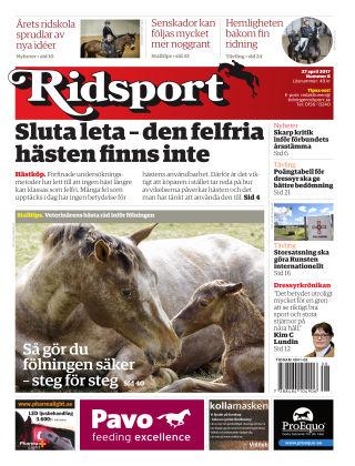 Ridsport 2017-04-27