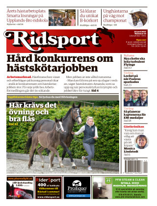Ridsport 2017-06-22