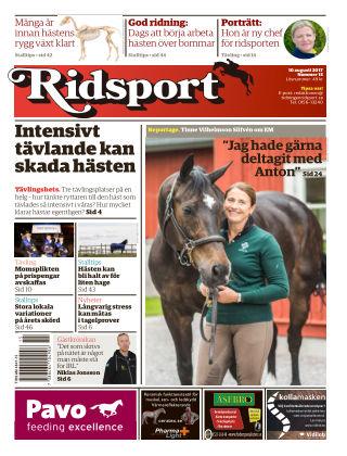 Ridsport 2017-08-10