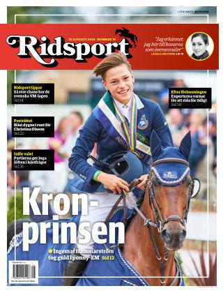 Ridsport 2018-08-23
