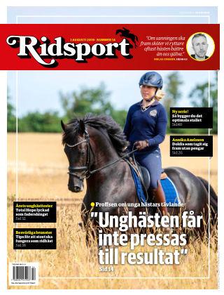 Ridsport 2019-08-01