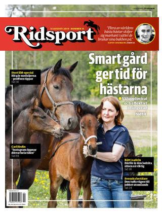 Ridsport 2019-08-15