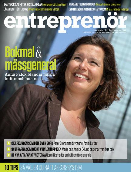 Entreprenör (Inga nya utgåvor) August 23, 2013 00:00
