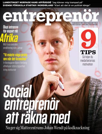Entreprenör (Inga nya utgåvor) January 30, 2015 00:00
