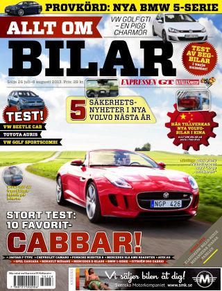 Allt om Bilar (Inga nya utgåvor) 2013-07-26