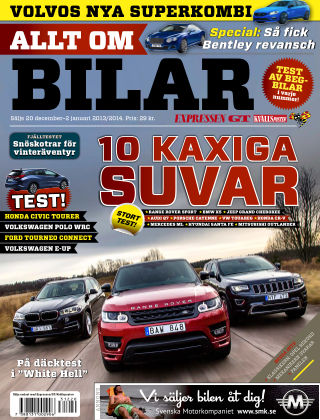 Allt om Bilar (Inga nya utgåvor) 2013-12-20