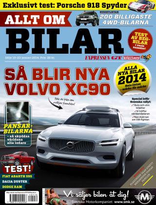 Allt om Bilar (Inga nya utgåvor) 2014-01-10