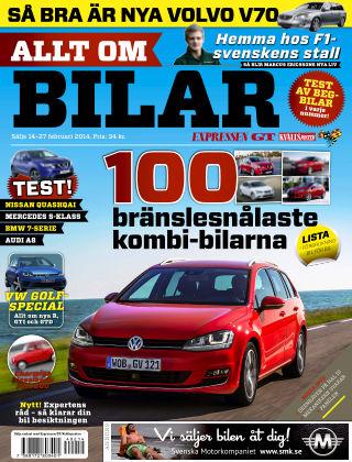 Allt om Bilar (Inga nya utgåvor) 2014-02-14
