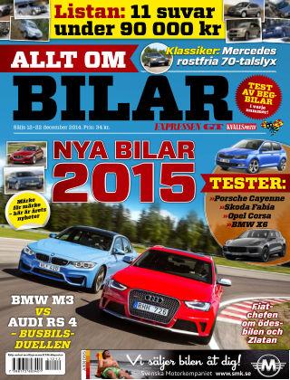 Allt om Bilar (Inga nya utgåvor) 2014-12-12