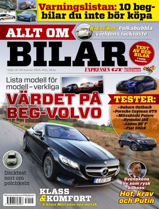 Allt om Bilar (Inga nya utgåvor) 2015-01-16