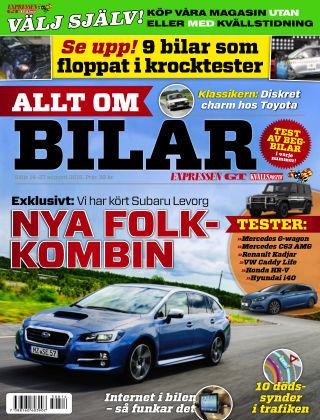 Allt om Bilar (Inga nya utgåvor) 2015-08-14