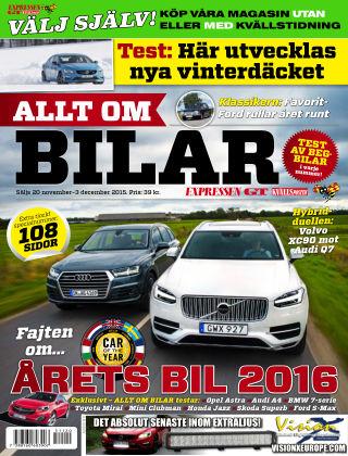 Allt om Bilar (Inga nya utgåvor) 2015-11-20