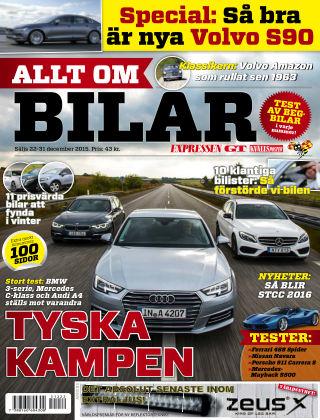 Allt om Bilar (Inga nya utgåvor) 2015-12-21