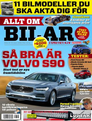 Allt om Bilar (Inga nya utgåvor) 2016-03-18