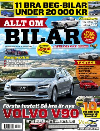 Allt om Bilar (Inga nya utgåvor) 2016-06-17
