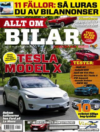 Allt om Bilar (Inga nya utgåvor) 2016-07-15