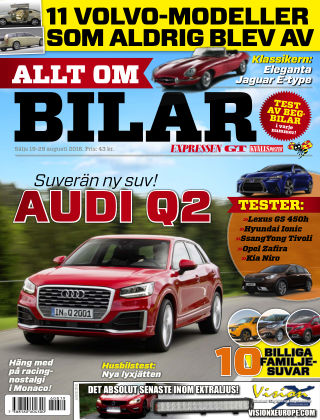 Allt om Bilar (Inga nya utgåvor) 2016-08-19