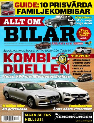 Allt om Bilar (Inga nya utgåvor) 2016-11-18