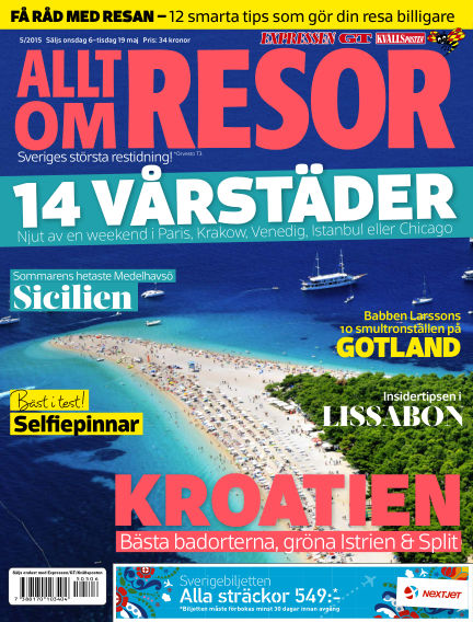 Allt om Resor May 06, 2015 00:00