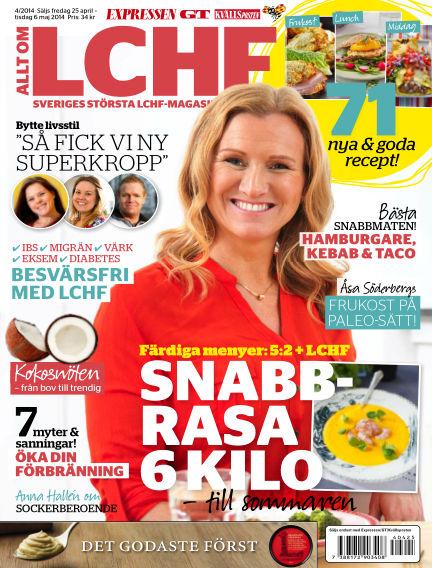 Allt om LCHF (Inga nya utgåvor) April 25, 2014 00:00