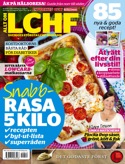 Allt om LCHF (Inga nya utgåvor) August 15, 2014 00:00
