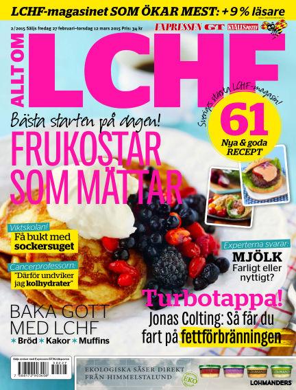 Allt om LCHF (Inga nya utgåvor) February 27, 2015 00:00
