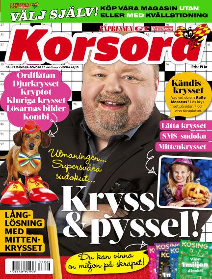 Korsord October 26, 2015 00:00