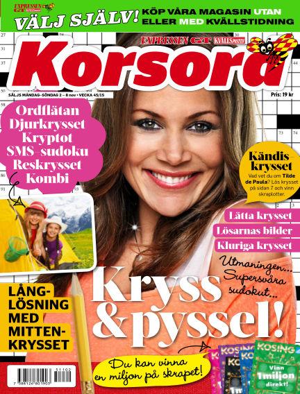 Korsord November 02, 2015 00:00