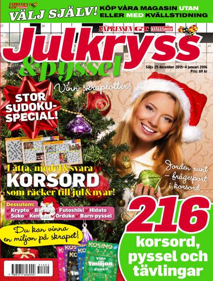 Korsord December 25, 2015 00:00